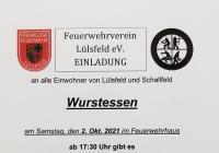 Wurstessen der Feuerwehr Lülsfeld